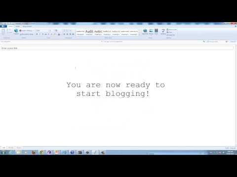 Windows Live Writer Tutorial