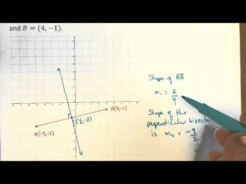 Finding the perpendicular bisector to a line segment