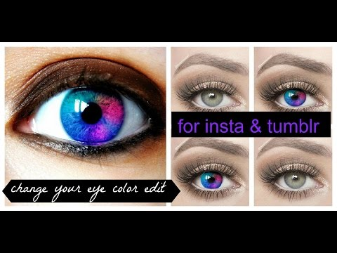how to : change eyes color edit for instagram and tumblr