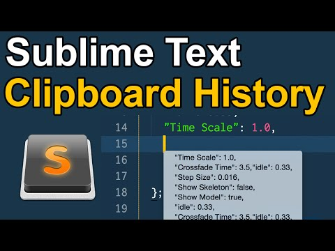 Sublime Text Clipboard Copy + Paste History — Quick Tip