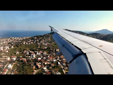 Aegean Airlines Airbus A320 BREATHTAKING APPROACH AND SMOOTH LANDING at Athens Airport | ✈