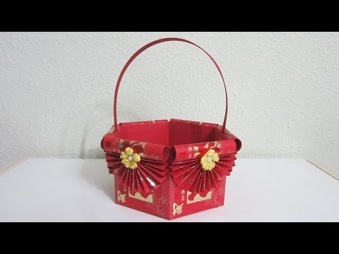 CNY TUTORIAL NO. 18 - How to make Red Packet (Hongbao) Basket