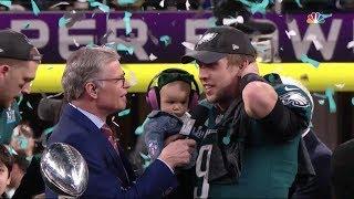 Philadelphia Eagles Super Bowl LII Lombardi Trophy Presentation | NFL Highlights