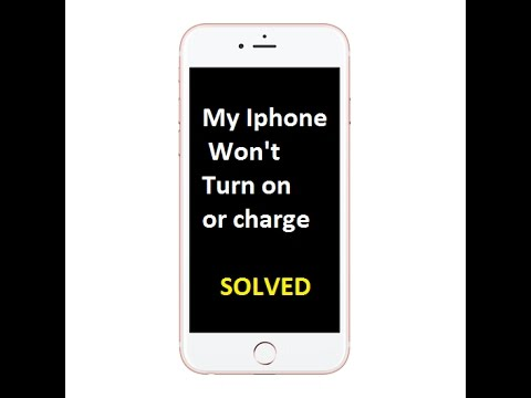 How to fix my Iphone that won't turn on or charge?