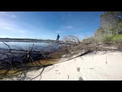 Fraser Island, camping and fishing.