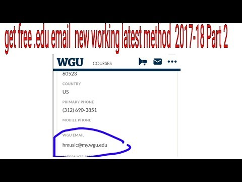 How to get free .edu email address new working latest method 2017-18 Part-2