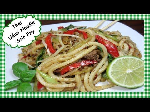 Thai Inspired Udon Noodle Stir Fry ~ Udon Noodle Recipe