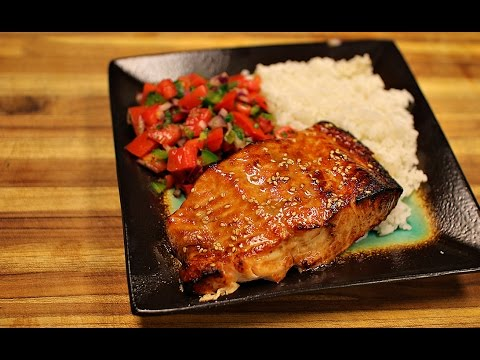 Teriyaki Salmon and Salad Recipe - big boss airfryer - healthy salmon recipes - air fryer dinner