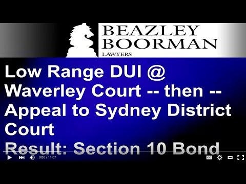 Waverley DUI Lawyers | Low Range Drink Driving Solicitors