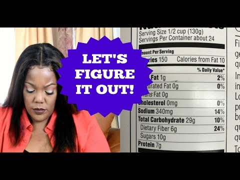 HOW TO READ NUTRITION FACTS LABELS WHEN PLANNING A PARTY |Cooking With Carolyn