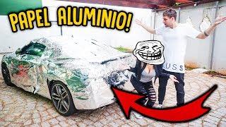 DESTRUIRAM MEU CARRO COM PAPEL ALUMINIO!! - REZENDE FOI TROLLADO! [ REZENDE EVIL ]