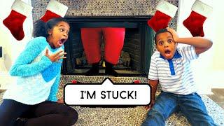 Bad Baby Santa Claus STUCK In Chimney! - Shasha, Shiloh Fire BOMB - Onyx Kids