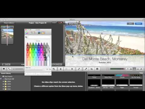 iMovie - How to Change Text Background Color