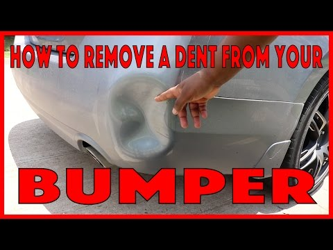 HOW TO REMOVE A DENT FROM YOUR BUMPER