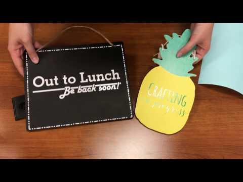 How to Make Door Signs With the Silhouette Cameo and Sign Vinyl