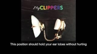 How to wear clip on earrings