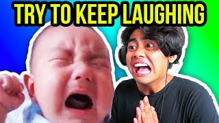 TRY TO KEEP LAUGHING CHALLENGE!