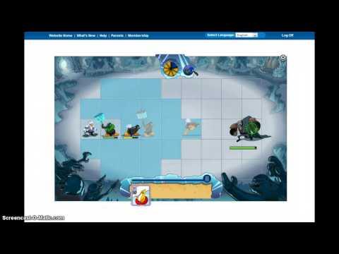 Club Penguin- tusk battle + machine gun snowball XD