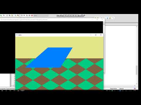 How to make a table object using openGL/GLUT