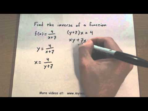 Pre-Calculus - Find the Inverse of a Function