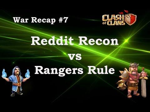Reddit Recon vs. Rangers Rule WAR RECAP #7
