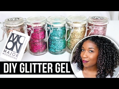 DIY Moonshine Glitter Gel Pomade + Glitter Hairstyles | Natural Hair