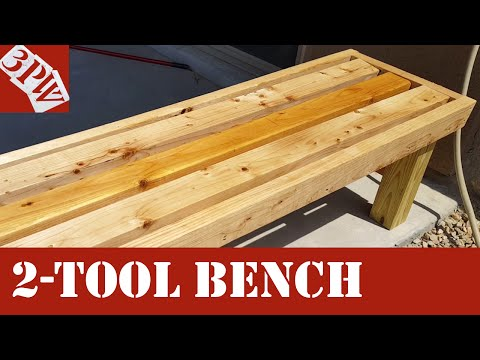Two Tool Backyard Bench