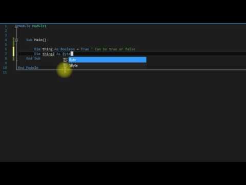 Visual Basic tutorial 2 (variables)