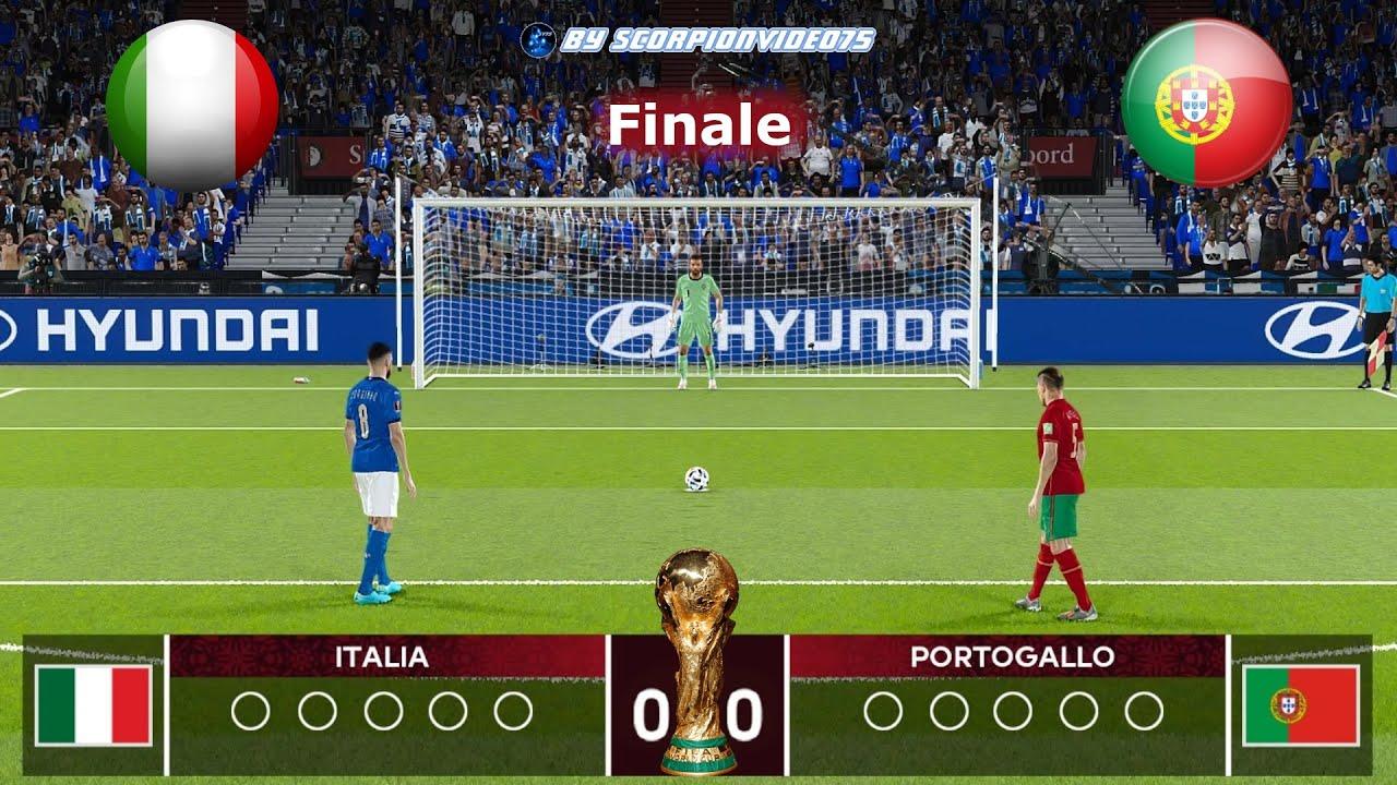 PES 2021 • Italia vs Portogallo Finale, FIFA World Cup Qatar 2022 (Calci di Rigore)