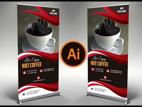 How to Design a Exclusive Coffee Shop Brochure In Adobe Illustrator |  Minimalist Design