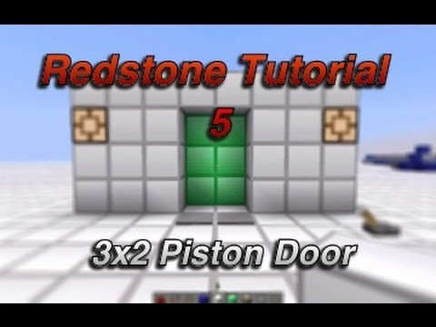 Minecraft   3x2 Piston door + lock 1.6.2