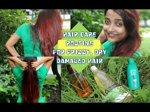 Hair Care Routine For Frizzy, Dry & Damaged Hair | DIY Hair Mask For Shiny Long & Healthy Hair