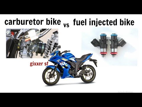 carburetor or fuel injected bike ? gixxer sf,