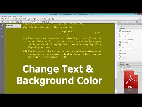 How to Change Text and Background Color in PDF using adobe Acrobat Live Cycle