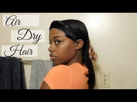 How To Air Dry Relaxed Hair