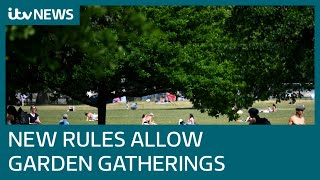 Up to six people can meet in gardens in England from Monday | ITV News