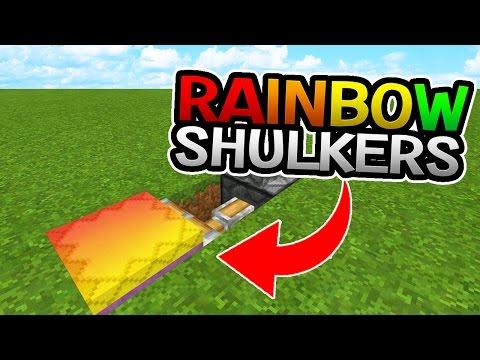 RAINBOW SHULKERS - SHULKER GLITCH/TRICK - Minecraft PE (Pocket Edition)