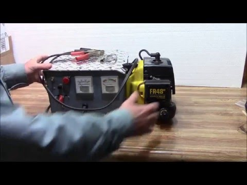 How to Build an Alternator Motor/Generator Battery Charger w/ String Trimmer Motor part 1