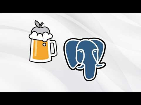Install Postgres on Mac with Homebrew