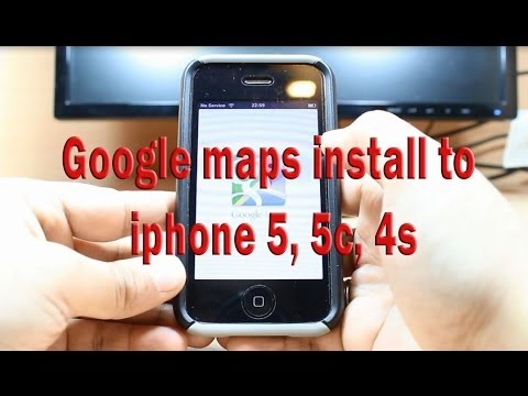 Google maps install to iphone 5, 5c, 4s, 4  3G