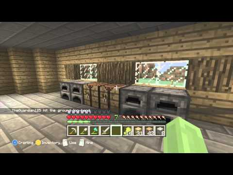 Minecraft Xbox 360 Survival - Lets Play #5 (We Decorate The House)
