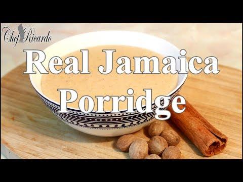 Real Jamaica Porridge Recipe For Breakfast | Chef Ricardo Cooking