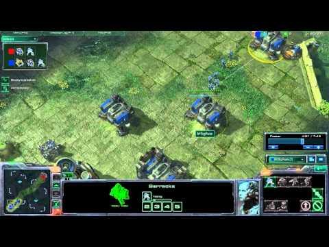 (#10) Starcraft II - Moving into the silver league Terran V Terran In HD