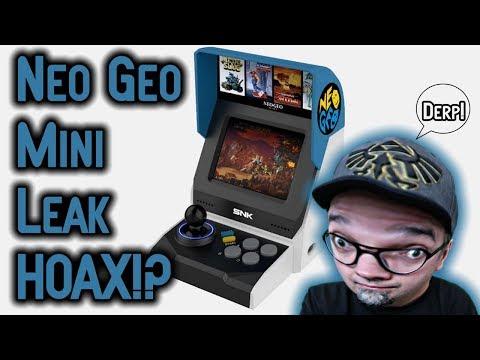 SNK Neo Geo Mini Reveal Leak A Hoax?! Several Problems I Notice!