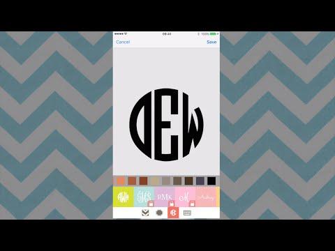 Create Monograms for Cricut Design Space