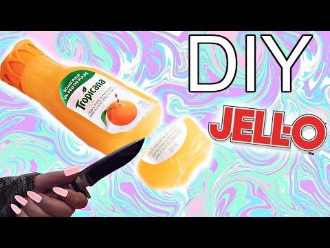 DIY GUMMY TROPICANA BOTTLE! JELLO ORANGE JUICE! //