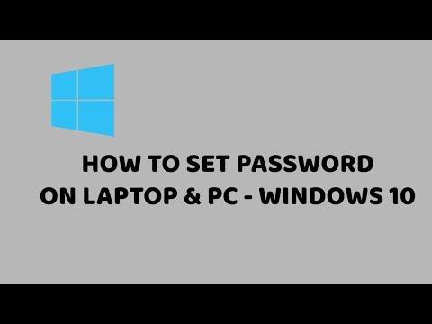 How To Set Password On Windows 10 | Set Password On Laptop & PC  | Easy Tutorials in Hindi