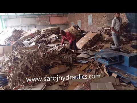 PAPER Baling Press Machine-bale machine pressing paper,carton,waste paper/cardboard