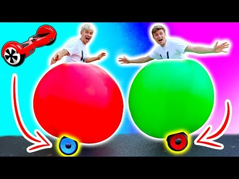 HOVERBOARD BALLOON CHALLENGE!! 🎈💥
