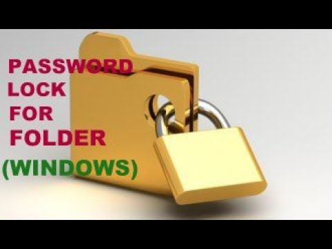 How To Set Password for Folder in WIndows 7/8/8.1/10 without any Software